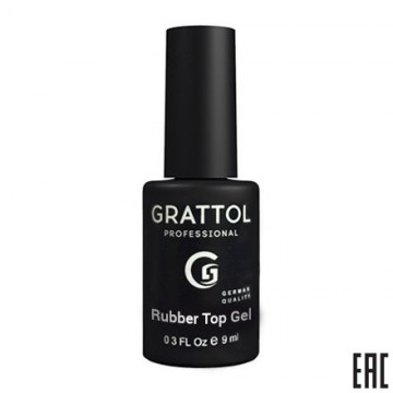 Grattol Rubber Top Gel (9ml) Каучуковый ТОП