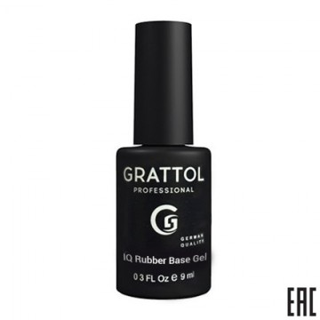 Grattol IQ Rubber Base Gel (9ml)