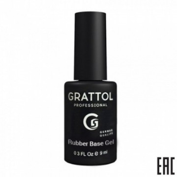 Grattol Rubber Base Gel Royal New Formula  (9ml)