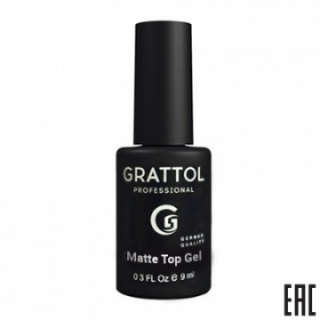 Grattol Matte Top Gel Velvet (9ml)
